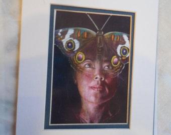 From Arizona Highways Magazine Indian lady portrait humming bird moth print
