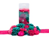 DIY Maternity Sash, Baby Shower Baby Bump Sash, DIY Craft Kit - Hot Pink/Teal