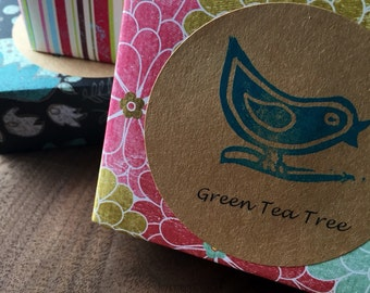 Green Tea Tree Soap, Hand Crafted All-Natural Soap, Green Tea, Tea tree Oil, Cold Process, Palm Oil free, Vegan, On a Branch Soaps