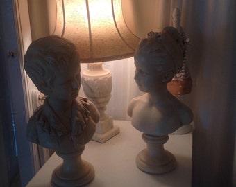 Vintage Houdon figurines Girl and Boy, Des Enfants
