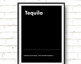 Taquila Poster  // Definition // Urban Dictionary // A4 // A3 //