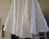 Christmas Tree Skirt White Holiday White Christmas French Country Decor Tree Skirt
