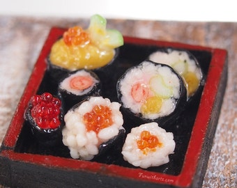 Miniature Food - Sushi Make Plate / Sashimi Platter