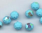 "Twelve ""out of program""  Swarovski crystals - Art. 5000 - 8 mm - turquoiseAB"