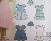 Simplicity 5695--Girls Dresses--easy to make--Sizes 2-4--UNCUT FF