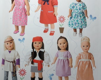 Simplicity 1344 -Doll Clothes  sewing pattern for  18  Inch Dolls