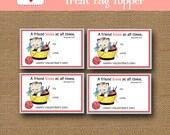 Kitty Cat Valentine Treat Bag | Vintage Kitten Treat Topper | Christian, Bible Goody Bag | DIY PRINTABLE | Scripture Card | Instant Download