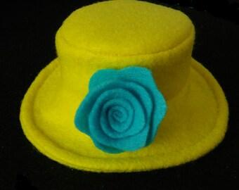 Spring Yellow Dog Hat, Dog Hat, Pet Hat, Spring Dog Hat, Spring Pet Hat, Flower Dog Hat, Wedding Hat Dogs, Festive Dog Hat, Pet Clothes