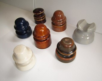 Vintage Ironstone Telephone Pole Insulators Choose by Letter