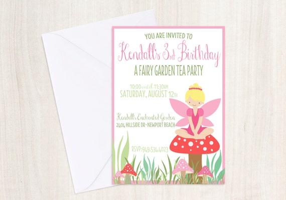 Custom Fairy Birthday Invite - Pixie Party Invitation - Fairy - Party Supplies
