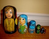 Set of Six Inside Out Nesting Dolls