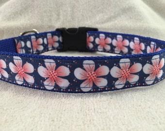 Tropical Flowers Custom Dog Collar