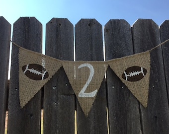 SECOND BIRTHDAY HIGHCHAIR Banner / Bunting / Highchair Decoration / 2nd Birthday / Football Party