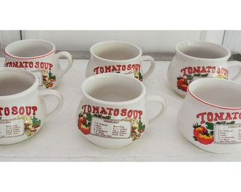 6 Tomato Soup Mugs Recipe on the Front