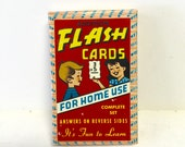 Addition flash cards, educational card game, vintage card game, never opened