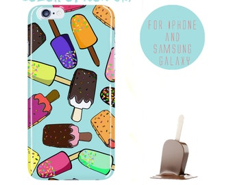 Polsicle Phone Case Icecream iPhone 6 Plus Case iPhone 6s Case Custom Samsung Galaxy s6 Case Ice Pattern Galaxy s7 Edge Cover Color Options