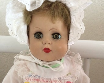"Vintage 19"" vinyl doll marked STAR 19"