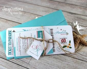 Boarding Pass Invitations, wedding invitations, ticket invitations, destination wedding