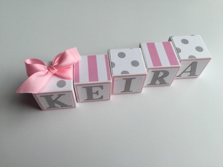 Baby Gift Name Blocks : Baby name blocks babies girl gift newborn shower