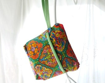 Pouch Set, Wristlet, Wristlet and Pouch, Top Zip Wristlet, Small Purse, Pouches, Small Wristlet, Wristlet with Card Holder, Wrist Strap
