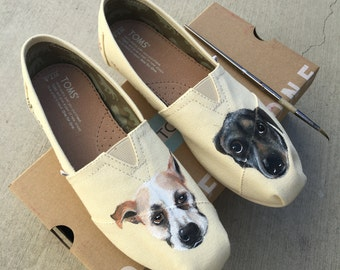 Custom Dog Portraits - Painted Dog Art On Your Shoes - Customizable