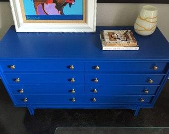 Blue Mid Century Dresser- SOLD