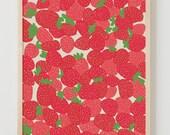 Fine Art Print.  Strawberries.  July 28, 2011.