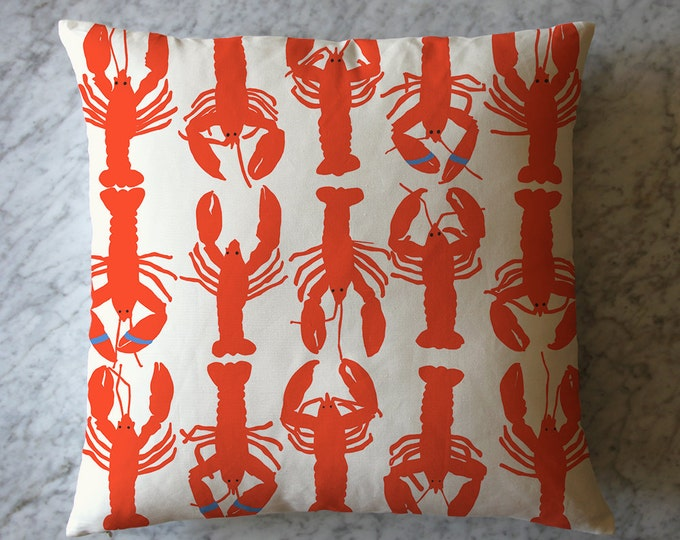Pillow with Lobsters.  July 12, 2016