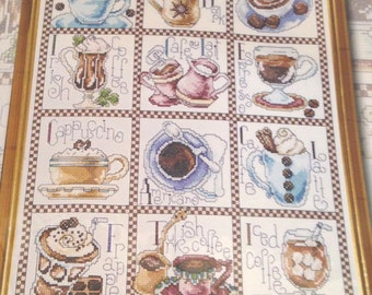 DE*STASH - Design Works Coffee Counted Cross Stitch Kit