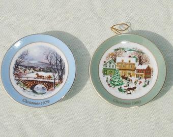 Avon Miniature Christmas Porcelain Plates