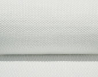 Upholstery fabric by the yard 45 linen 55 cotton blend Organic uphostery fabric White  Heavy weight canvas ECO friendly , 1 yard