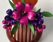 matilda's big hair clip - flower all around