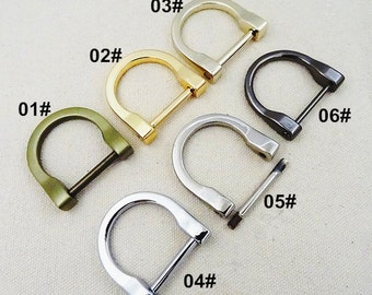10Pcs 25mm  D-ring with Screw - For Craft Bag Purse, Silver Gold Black Colors for choice-- T288