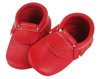 Red Baby Moccasins - Multiple Styles