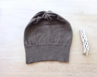 Merino hat in mushroom, beanie- women's hat, knit hat, present for her