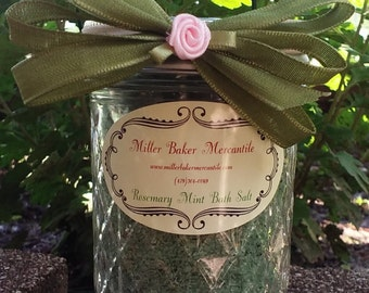 Rosemary Mint Bath Salts-8 ounces