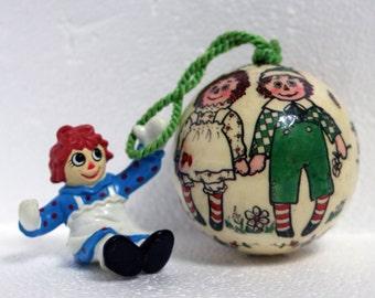 Raggedy Anne and Andy Ann Christmas bulb PVC figure