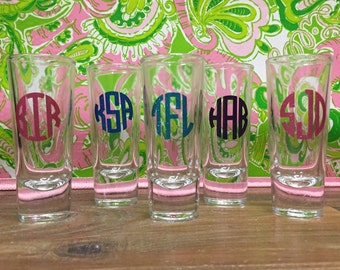 Monogrammed Shot Glass 1.5 oz
