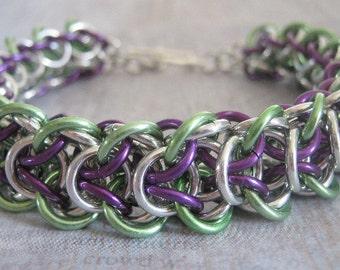 Elfin Glade Chain Maille Aluminum Bracelet