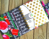 Planner Cover Erin Condren Plum Paper Inkwell Happy Planner cover case Made to Order