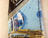 """Vintage Star Wars Pillowcase NOS by Bibb New in Package """"Space Fantasy"""" Pattern"""