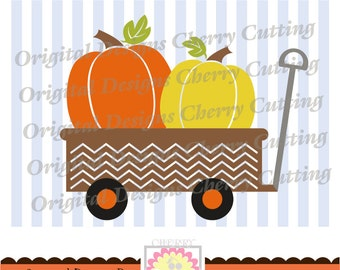 Pumpkin wagon SVG,Happy fall pumpkins SVG,Thanksgiving Silhouette Cut Files, Cricut Cut Files DGCUTTH3 -Personal and Commercial Use