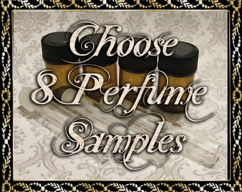 Perfume Oil Samples: Choose Eight (8) 1mL or 2mL Samples, Cologne Oil, Artisan Fragrance, Alcohol Free, Ships Out in 5-7 Days