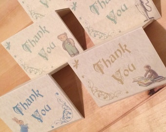 Digital or Printed Vintage Storybook Thank You Cards