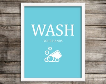 Wash 8X10 Kids Wall Art ~ Digital Download.