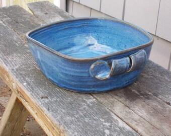 Blue Open Cassarole Dish