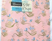 20% Heart Sale 2- 26 Inch x 20 Inch Vintage Dennison Watering Can-Bird Spring Gift Wrap Paper