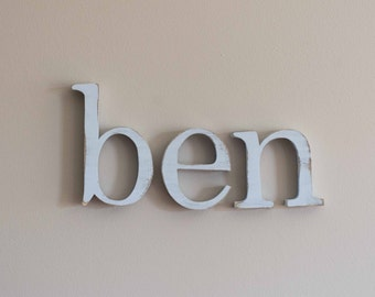 Individual Wooden Letters for Nursery, Baby Name, Custom Painted Letters