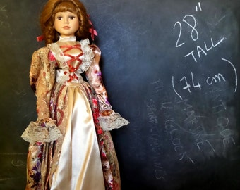 "28"" Vintage French Porcelain doll. 28 inch, ( 74 cm ) Displayed Only."