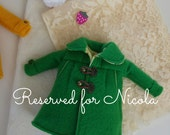 "Handmade coat for Blythe doll. ""The green Coat"" by SaritaSopita"